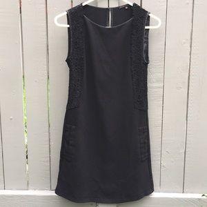 MAJE Black Lace Panelled Dress Size 36